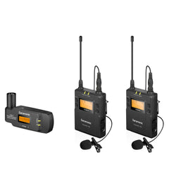 UwMic9 TX9+TX9+RX-XLR9 Dual-Channel UHF Wireless Lavalier Mic System with Plug-In XLR Receiver for Professional Video, DSLR & Mirrorless Cameras