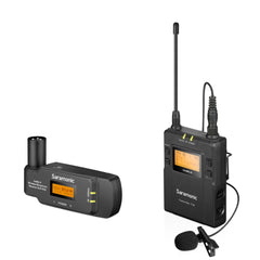 UwMic9 TX9+RX-XLR9 UHF Wireless Lavalier Mic System with Dual-Channel XLR Plug-In Receiver for Professional Video, DSLR & Mirrorless Cameras