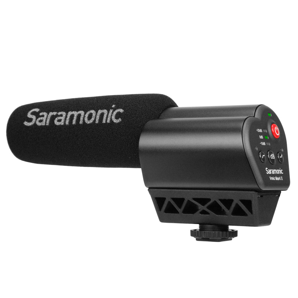 Vmic Mark II On-Camera Directional Shotgun Microphone with 3.5mm Output, 3-Stage Level Control, High-Pass Filter, High-Frequency Boost & Headphone Output