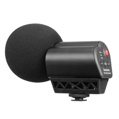 Vmic Stereo Mark II On-Camera X/Y Stereo Microphone with 3.5mm Output, 3-Stage Level Control, High-Pass Filter, High-Frequency Boost & Headphone Output