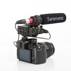 MixMic 2-Channel XLR On-Camera Audio Mixer with SR-NV5 Shotgun Mic Kit for DSLR, Mirrorless & Video Cameras