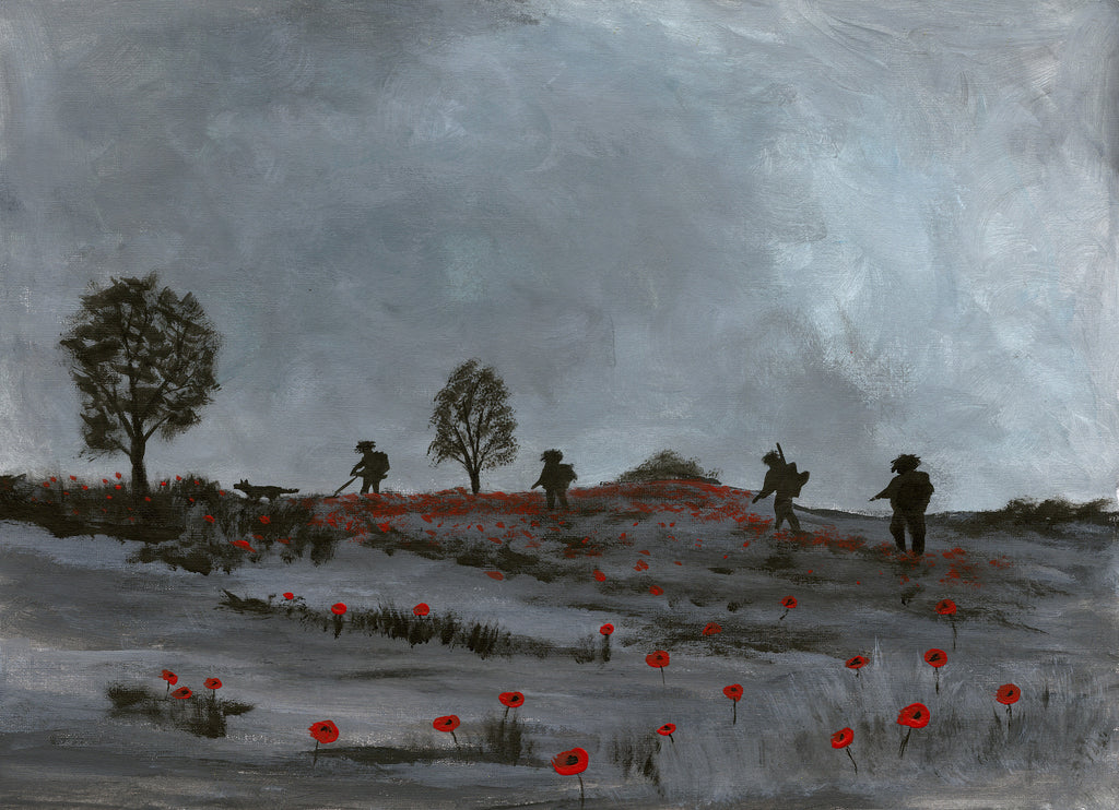 Remembrance painting poppy