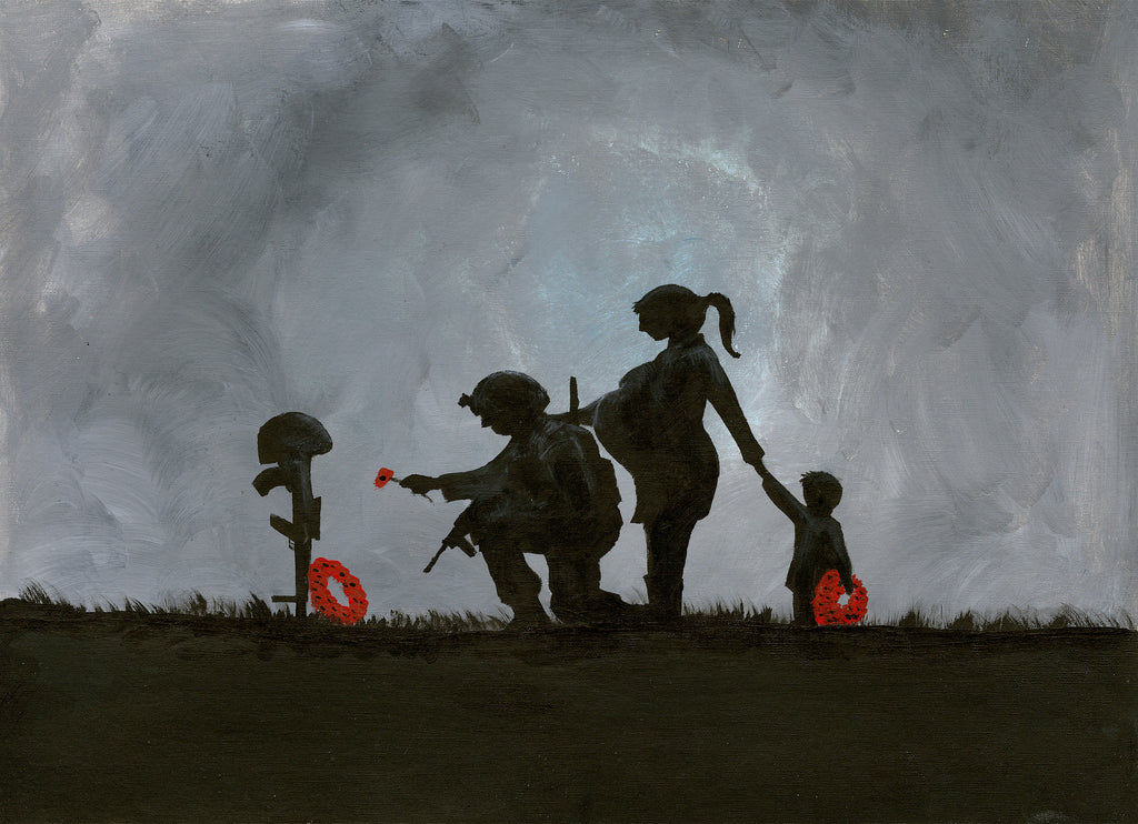 remembrance painting by Dave H