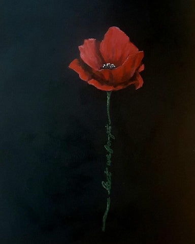 366 Limited Edition Giclée Print 366 - 'Black Lest We Forget Poppy'