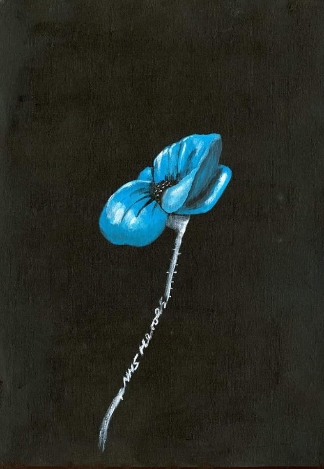 375 Open Edition Giclée Print - 'NHS Heroes Blue Poppy'