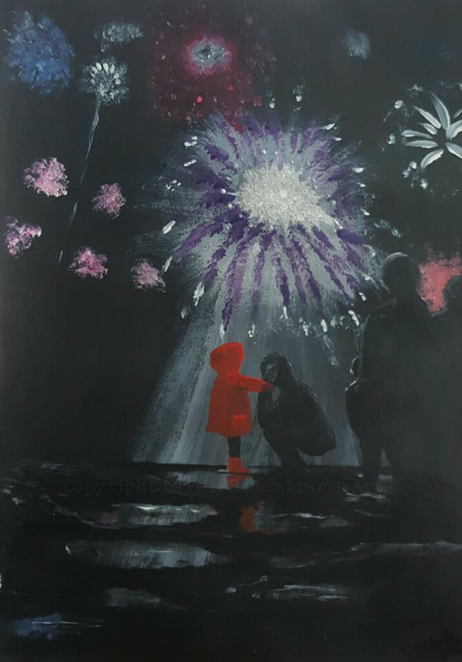 Poppy Art PTSD painting