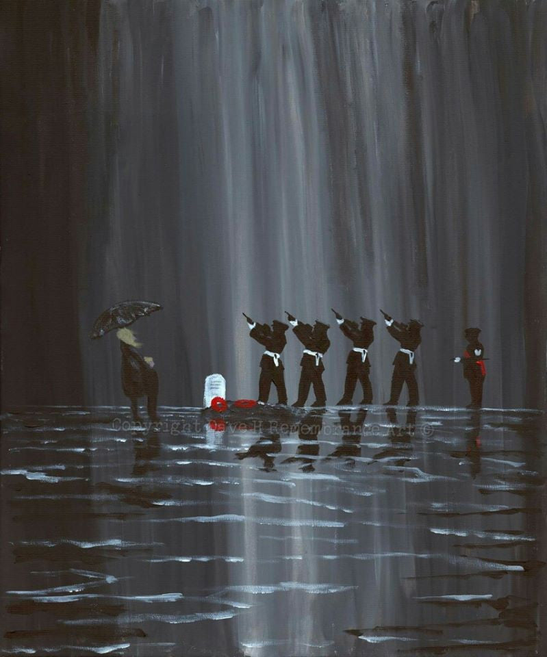 Dave H Remembrance Art painting Sacrifice Honoured