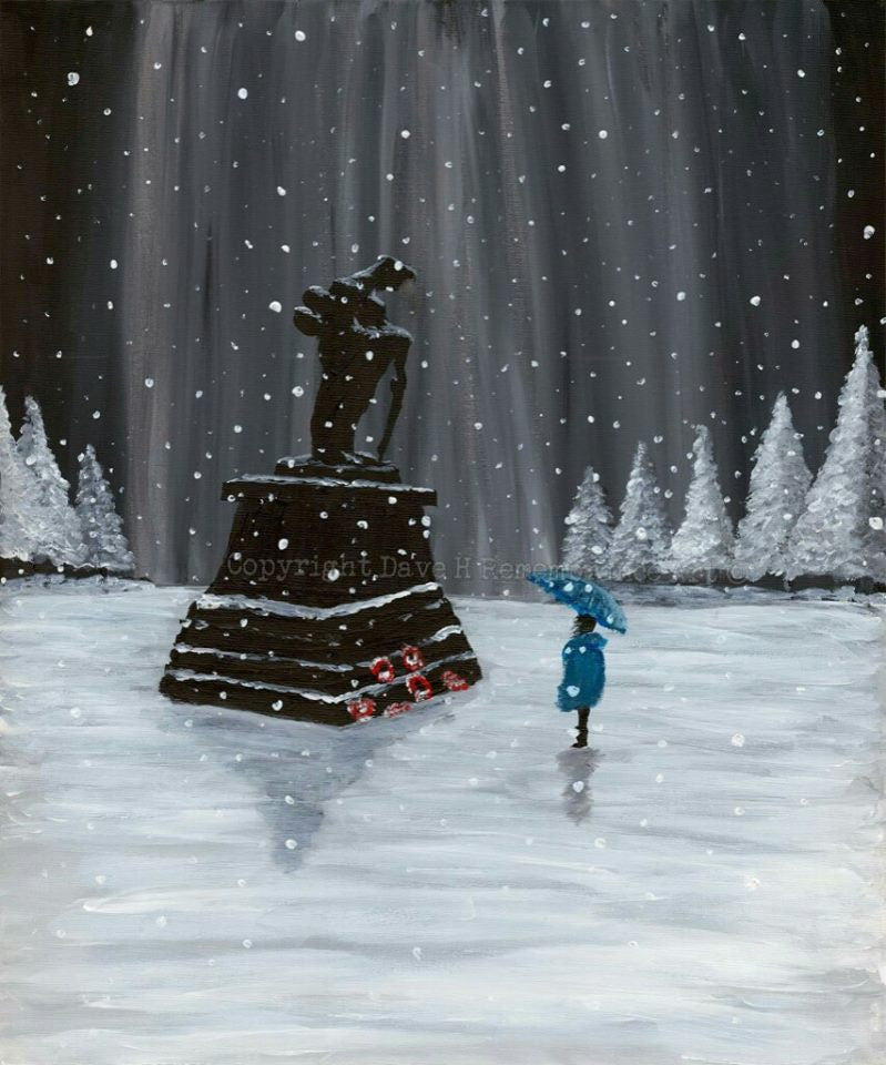 Dave H Remembrance Art painting 'Remembrance at Christmas'