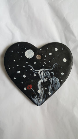 Love Heart Decoration - 'Hamish in the snow heart'