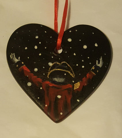 Love Heart Decoration - 'let it snow, let it snow'
