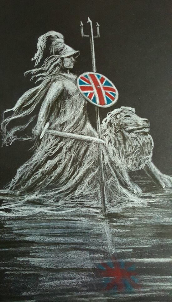 Britannia black and white art