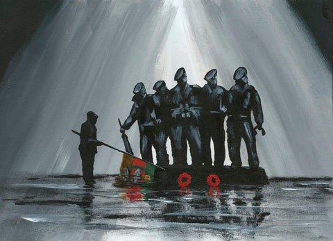 338 Embellished Limited Edition Giclée Print 338 - 'Remembering the Royal Tank Regiment'