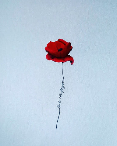 365 Limited Edition Giclée Print - 'White Lest We Forget Poppy'