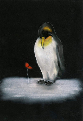 419 Original Pastel Painting - 'king of the night''