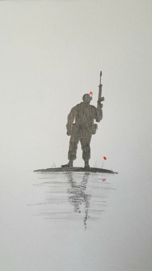 Original pencil sketch - 'Fusilier'