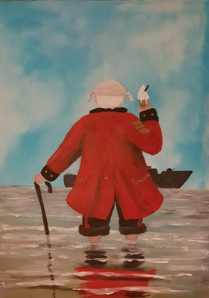 Chelsea Pensioner painting