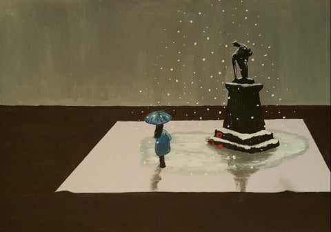 213 Open Edition Giclée Print 213 - 'Snow at the Memorial'