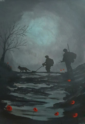 Limited Edition Giclée Print 058 - 'Walking the dog'