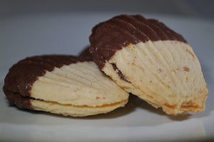 Chocolate Dipped Butter Cookies - 1lb