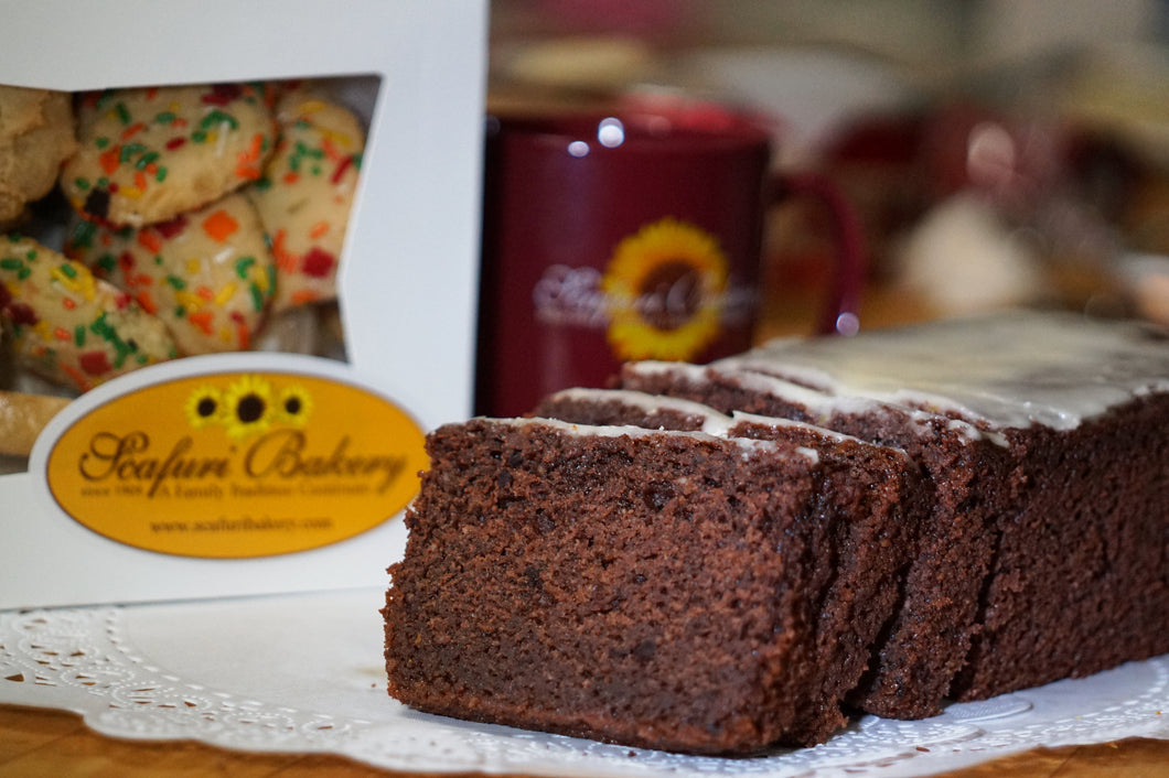 Chocolate Orange Ricotta Pound Cake Loaf