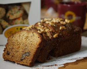 Banana Bread Loaf with Salted Caramel Glaze