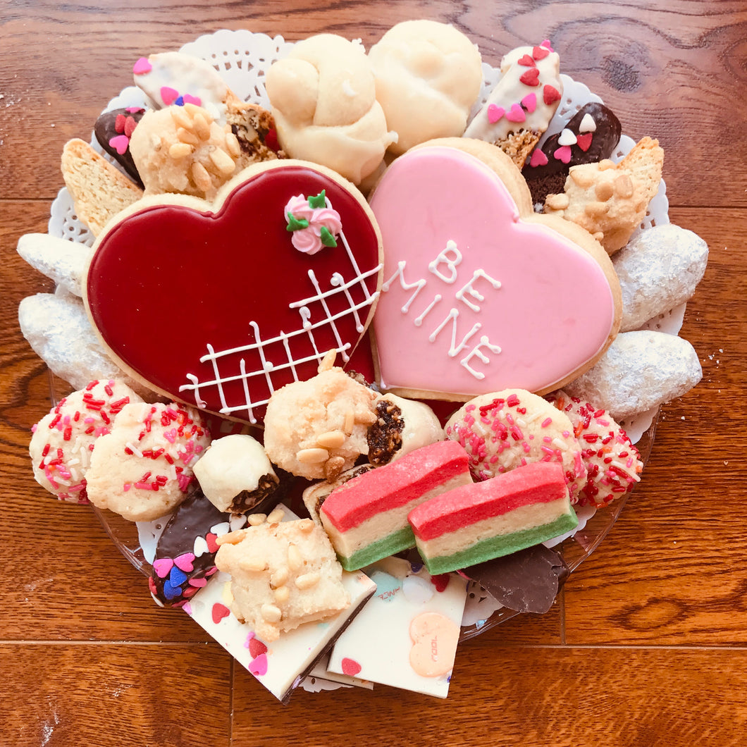 Valentine cookie assortment -- 2 pds