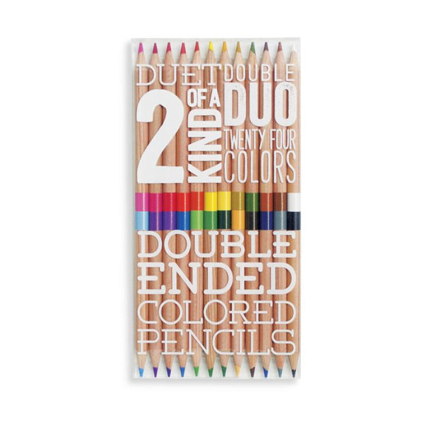 2 of a kind coloured pencils- set of 12- Ooly