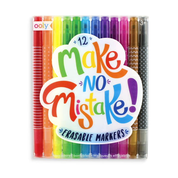 Make no mistake erasable markers - set of 12- Ooly
