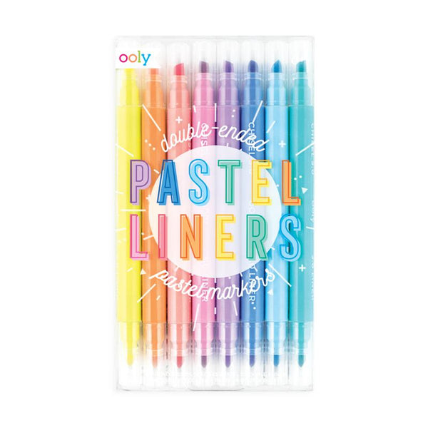 Pastel liners dual tip markers- set of 8- Ooly