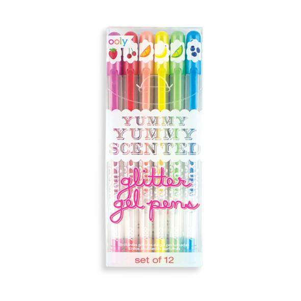 Yummy yummy scented glitter gel pens- set of 12- Ooly