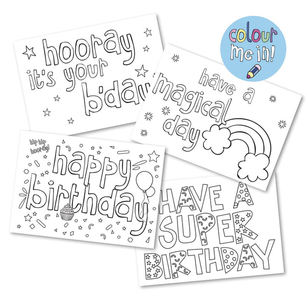 Colour in birthday bundle