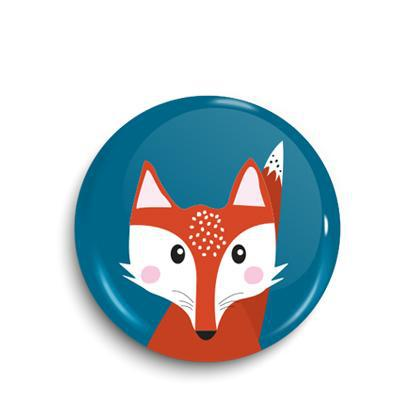 Fox button badge