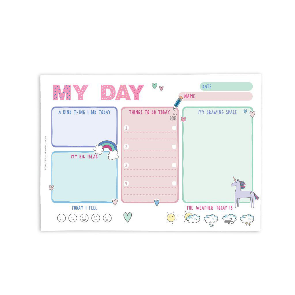 My Day planner notepad - pink