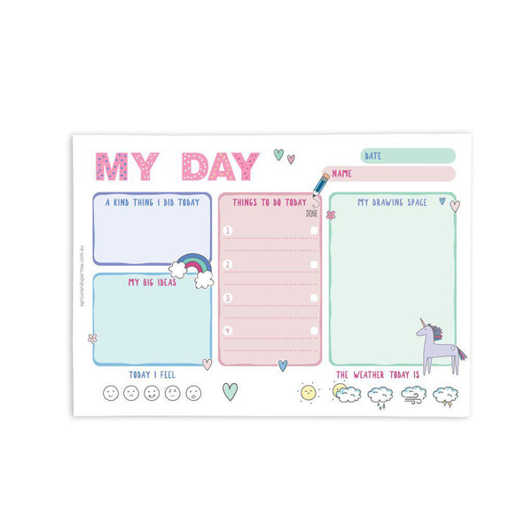 A5 Notepad: My day