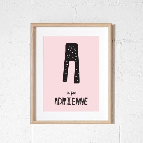 Personalised - Dotty letter print (dusty pink)
