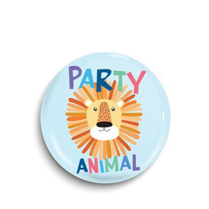 Party animal button badge