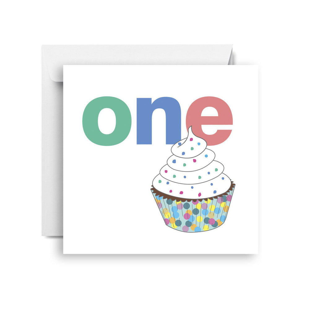 One- first birthday card (small)