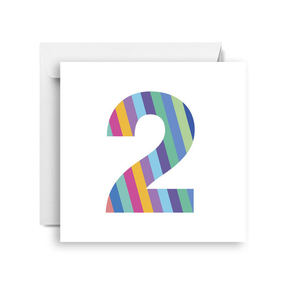 Two- second birthday card (small)