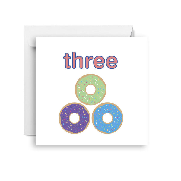 Three- third birthday card (small)