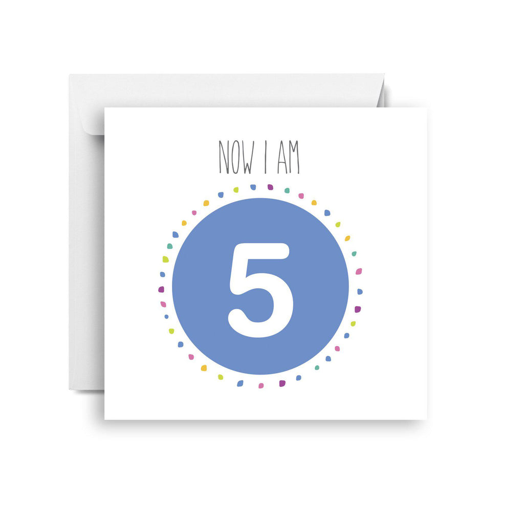 Five- fifth birthday card (small)