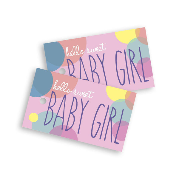 Sweet baby girl gift tag