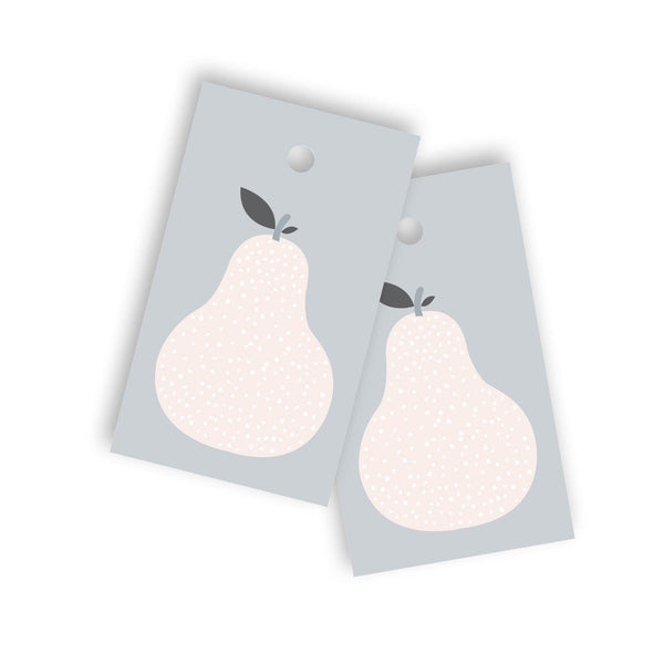 Scandi pear gift tag