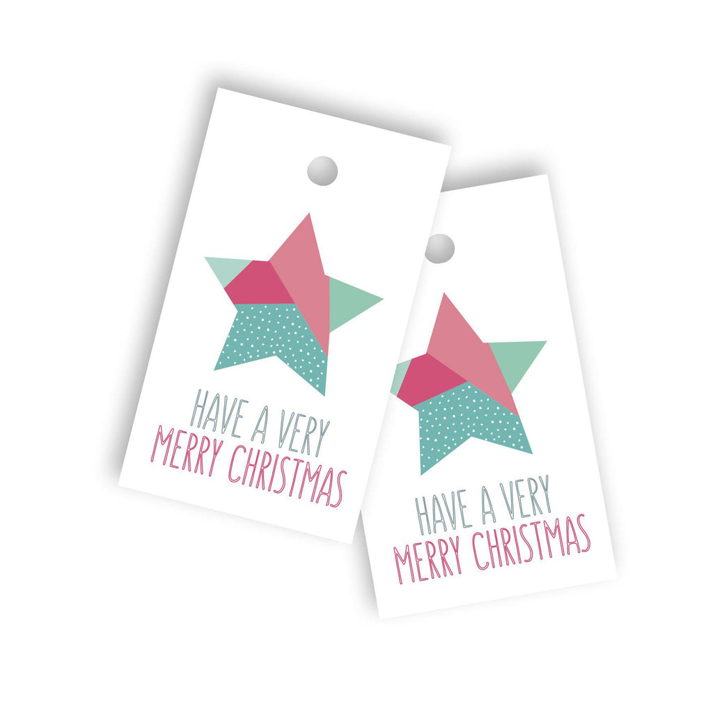 Christmas star gift tag