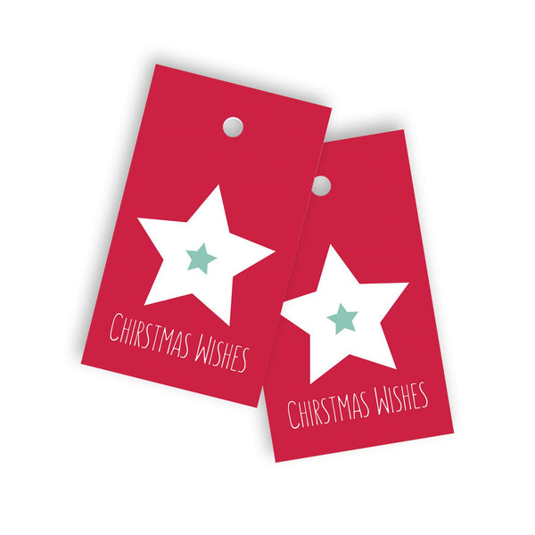 Christmas wishes gift tag