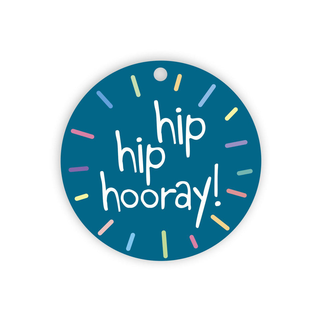 Hip hip hooray gift tag