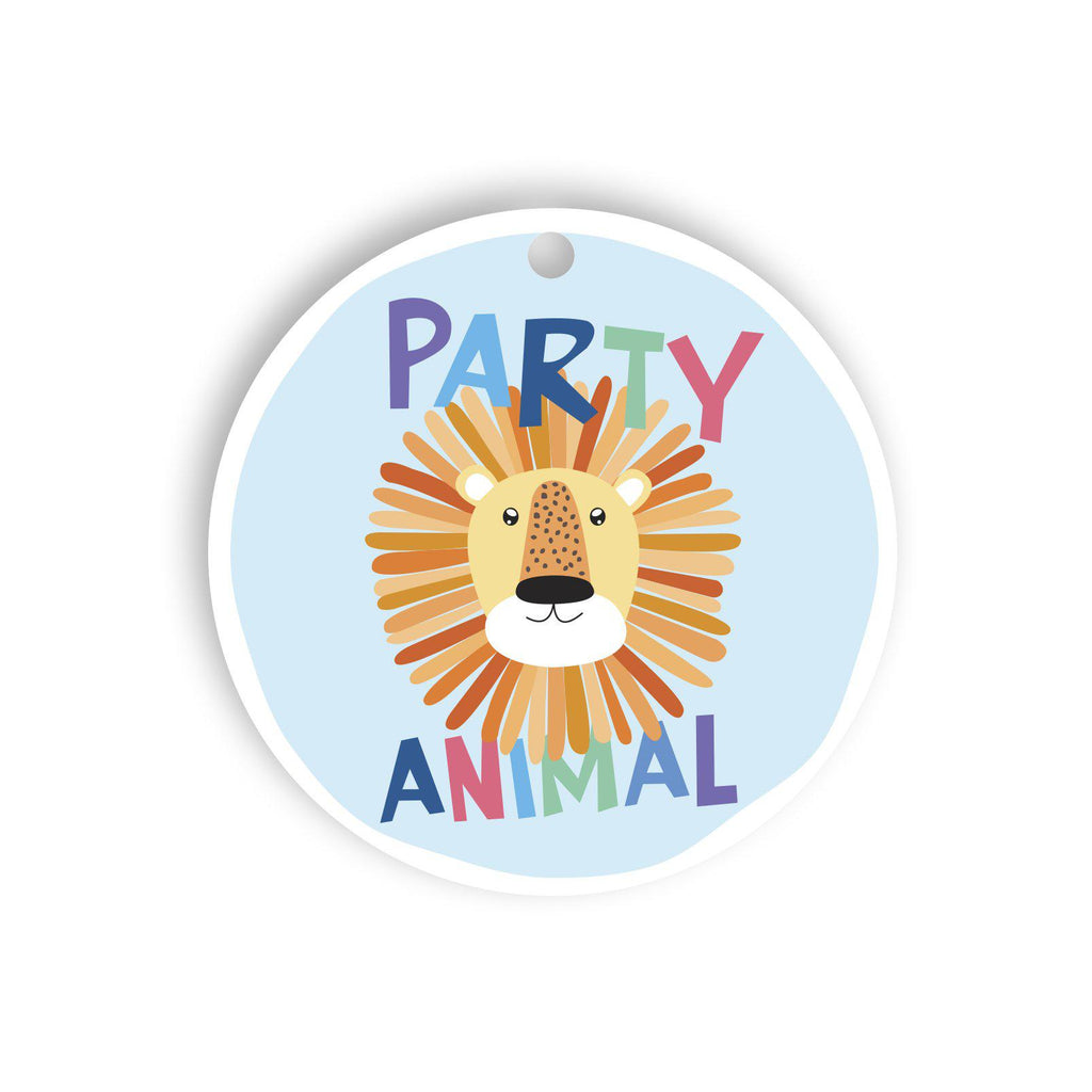 Party animal gift tag