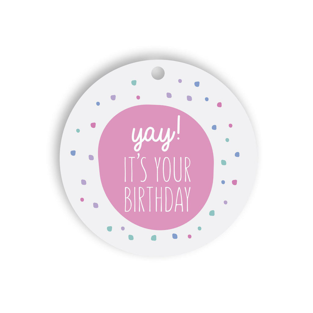 It's your birthday gift tag
