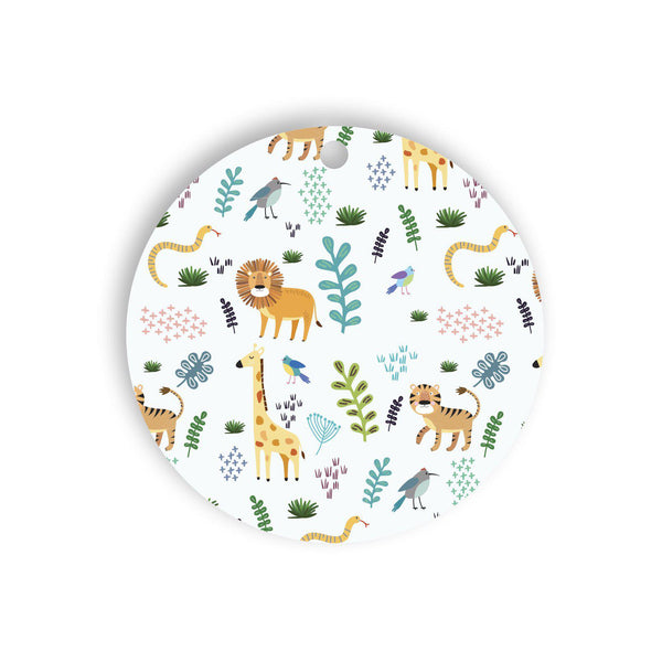 Jungle pattern gift tag