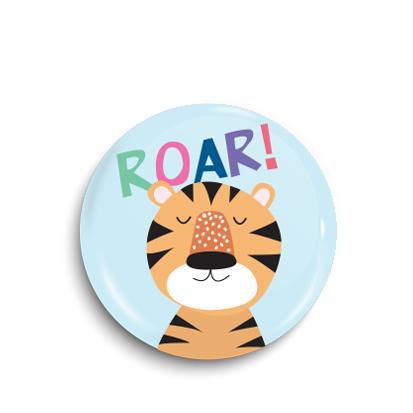 Tiger button badge