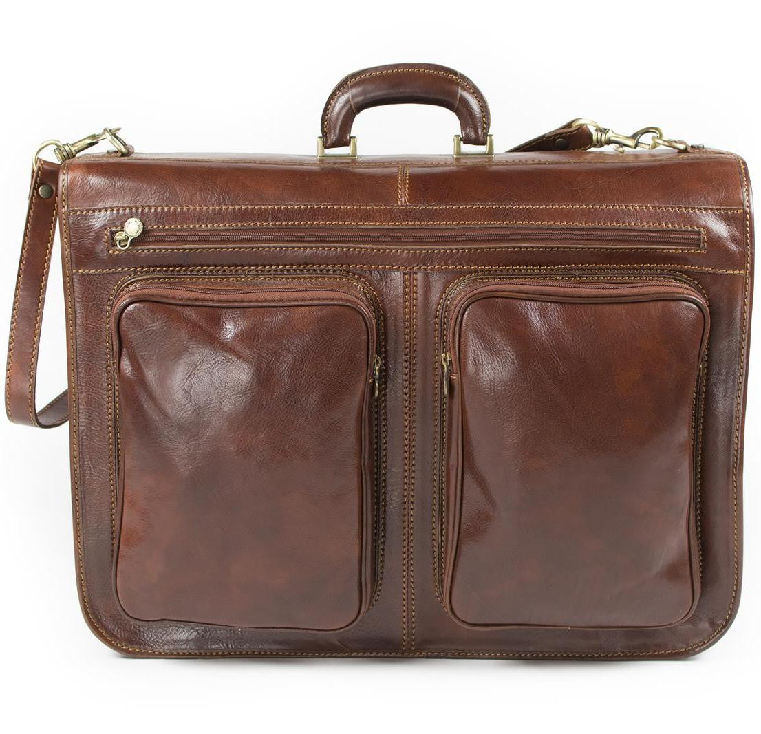Genuine Italian Leather Cabin Suit And Garment Bag